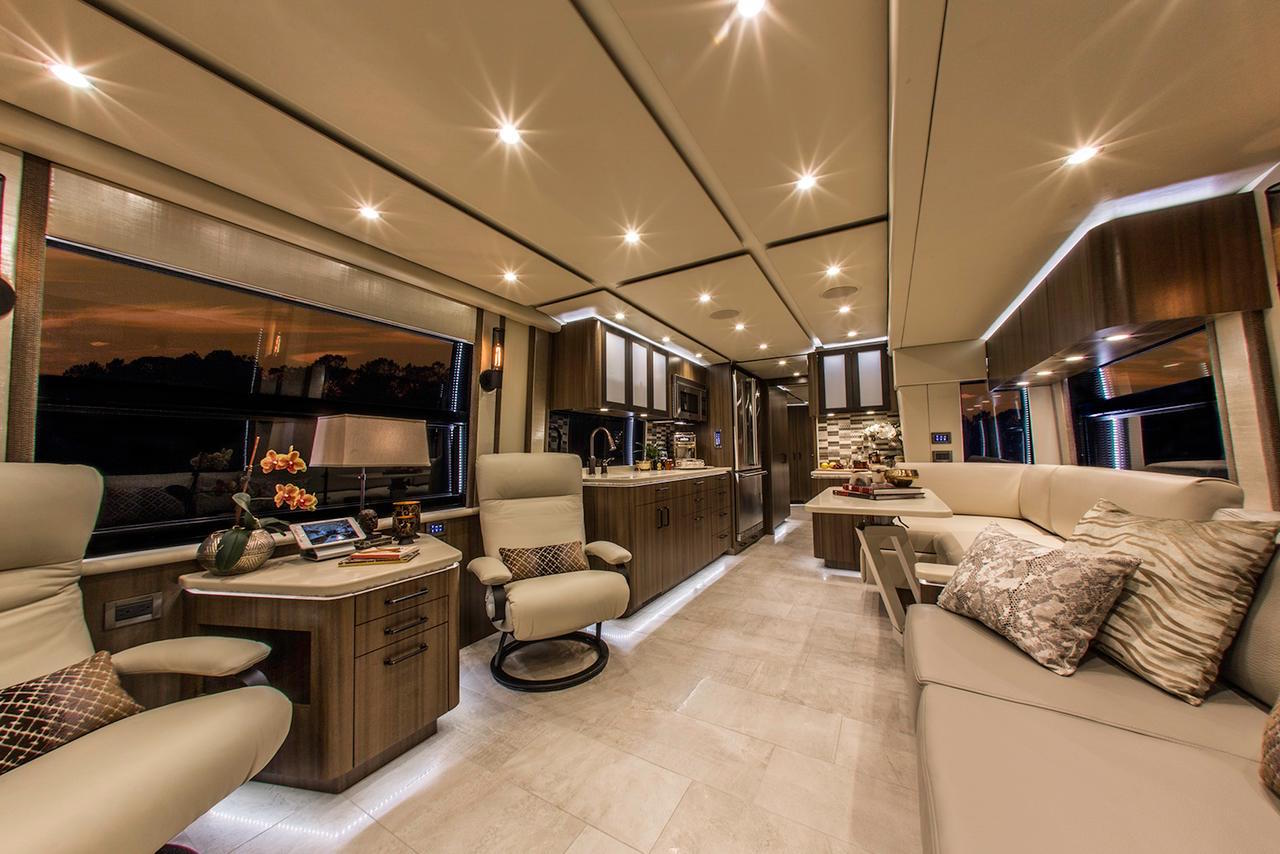 Luxury Bus likewise Marathon Prevost Motorhome Interior moreover Prevostfloridacoachx Staley moreover  together with Acwork. on new prevost motor coach inside