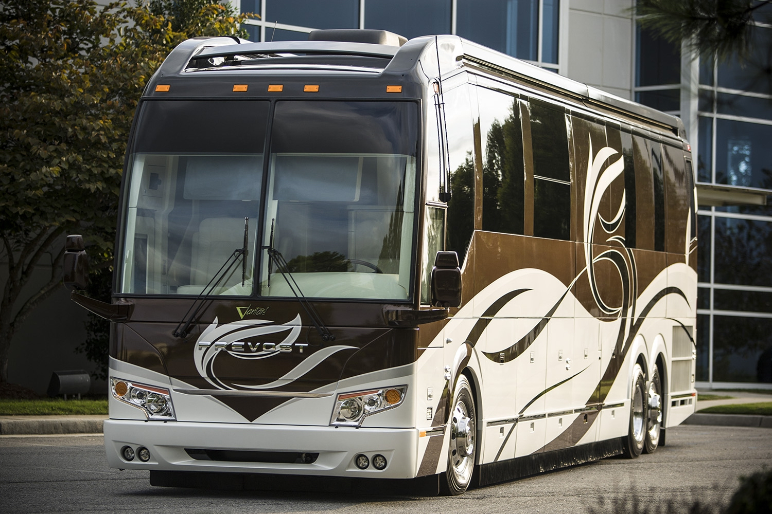 Prevost Motorhome Chassis Advantages Featherlite Coaches